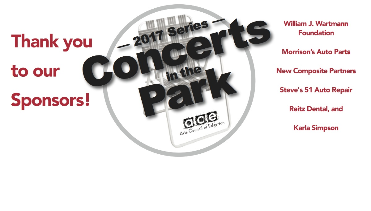 Thank you, 2017 Concerts in the Park Sponsors!